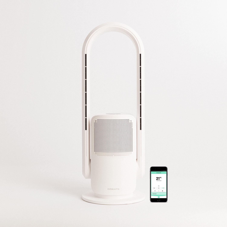 WARM PURE DC - Portable Purifier Fan Heater with HEPA H13 and WiFi, imagen de galería 1