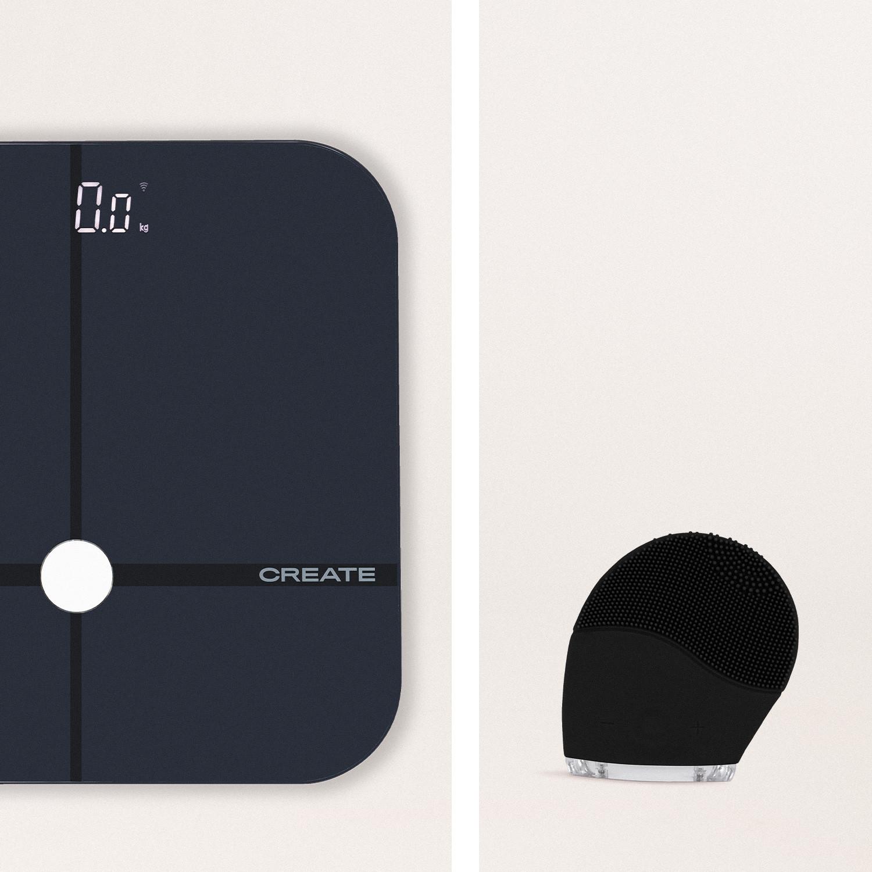 Pack - BALANCE BODY SMART Báscula digital de bioimpedancia + FACIAL WAVE Cepillo Facial de Silicona, imagen de galería 1051535