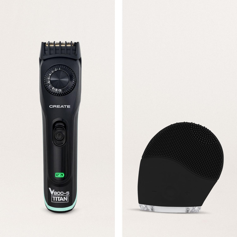 Pack  - BARBER V800 PRO Afeitadora eléctrica inalámbrica + HADA Cepillo Facial de Silicona, imagen de galería 823493