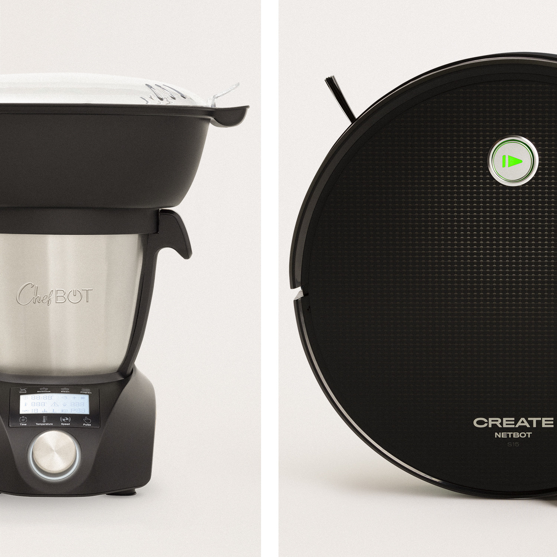 Pack - CHEFBOT COMPACT STEAMPRO Robot de cocina + NETBOT S15 2.0  Robot Aspirador, imagen de galería 1