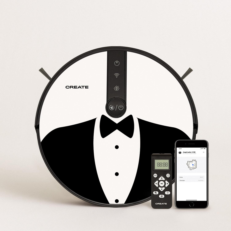 PACK - NETBOT S18 Robot Aspirador + Vinilo DESIGN, imagen de galería 1
