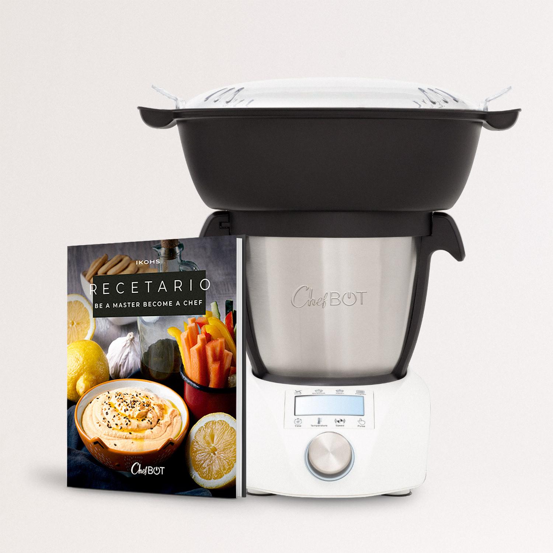 CHEFBOT COMPACT STEAMPRO (con Vaporera) + Recetario - Robot Inteligente de Cocina, imagen de galería 1