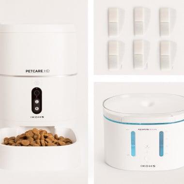 Comprar PACK PETCARE HD Comedero + AQUAPURE Bebedero + 6 filtros agua de alta eficiencia