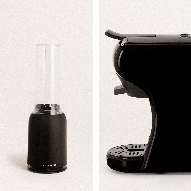 Pack - POTTS Caffettiera Nera + MOI SLIM Frullatore nero con bicchiere, imagen de galería 1020471