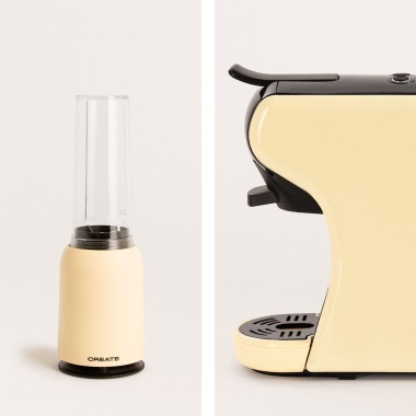 Acquista  Pack - Macchina del Caffè POTTS +Frullatore con Bicchiere Portatile MOI