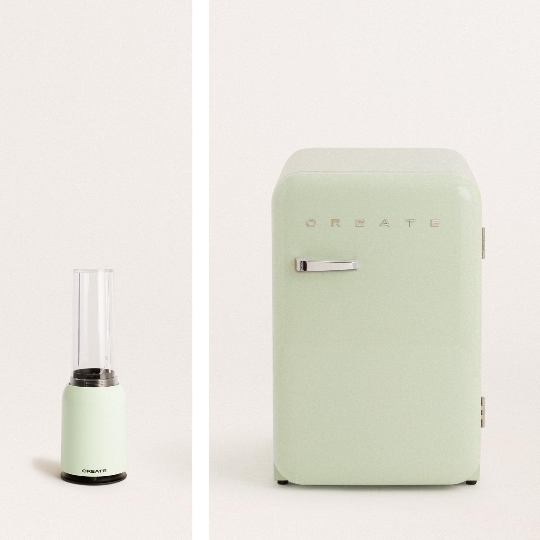 Pack - MOI SLIM frullatore con bicchiere+ RETRO FRIDGE 83.5 frigo, imagen de galería 1040740