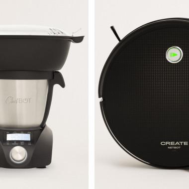 Acquista Pack - CHEFBOT COMPACT STEAMPRO Robot da cucina + NETBOT S15 Robot Aspirapolvere
