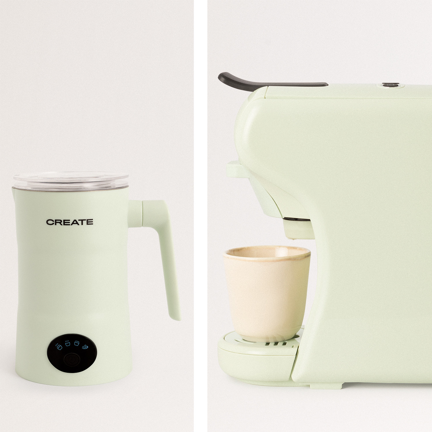 PACK - POTTS STYLANCE Multi-capsule espresso machine + MILKFROTHER PRO Milk and chocolate warmer frother, imagen de galería 1