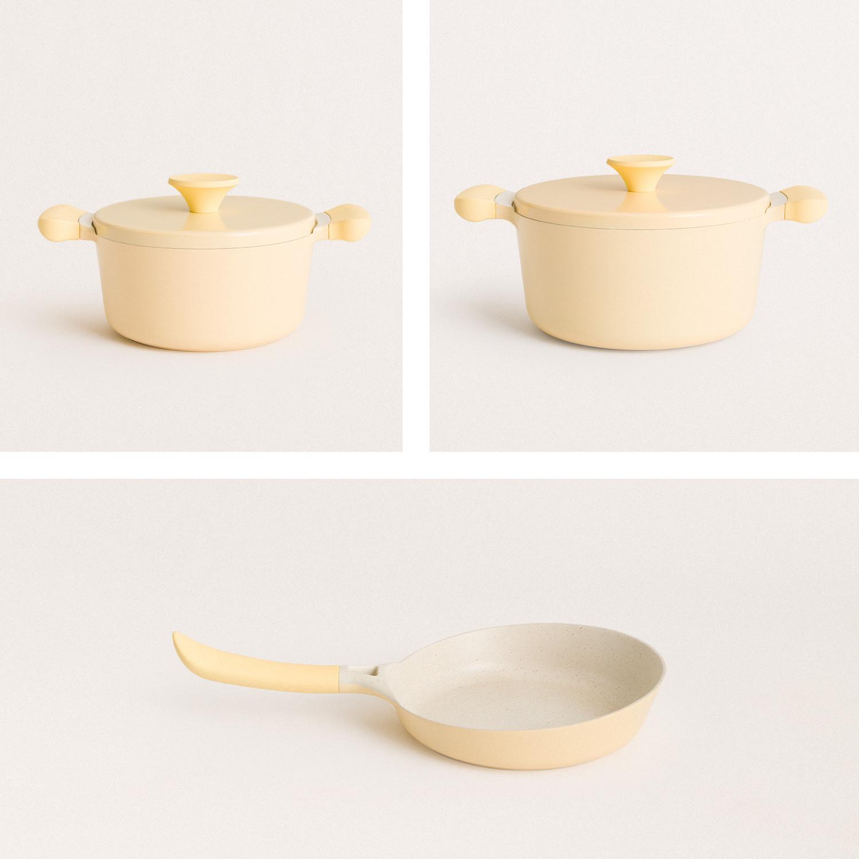 Set of kitchenware - 2 UMA pots + 1 NOA pan, imagen de galería 1