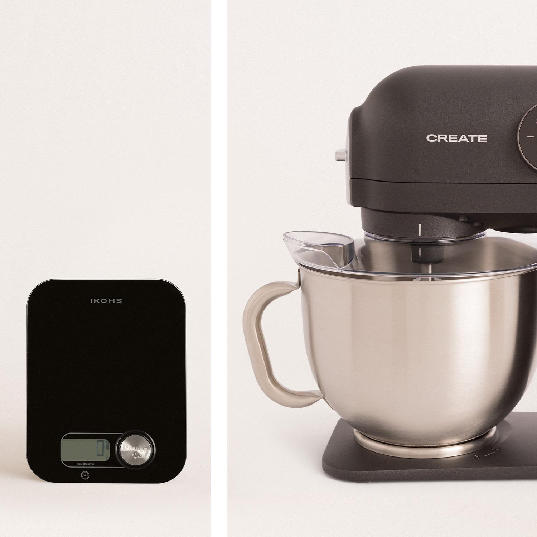 PACK BLACK - DOWNMIX RETRO Kneader + PONDUS Kitchen scale, imagen de galería 1019446