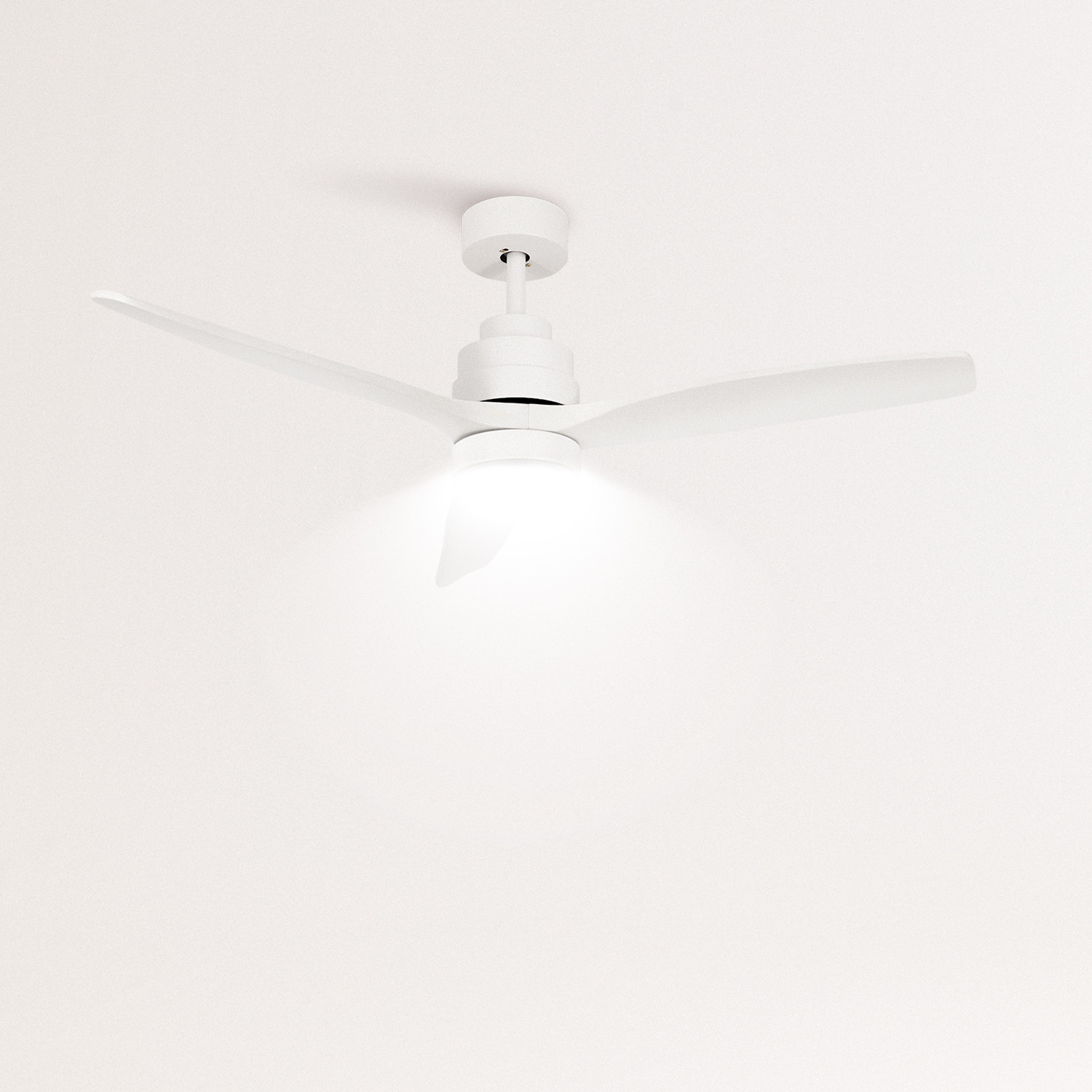 WINDLIGHT WHITE - Ceiling fan 40W DC Reverse with Light, imagen de galería 1