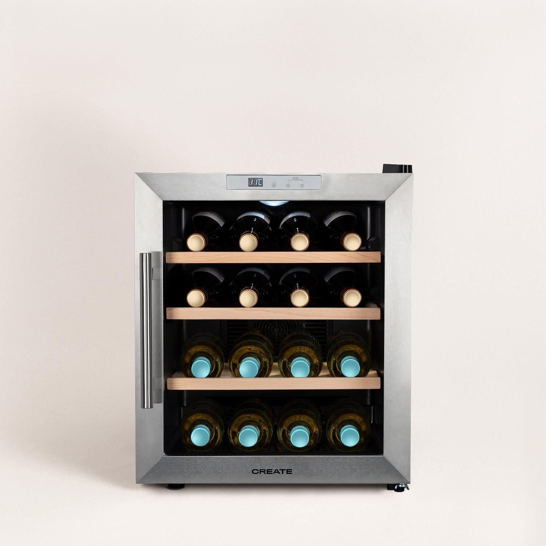 WINECOOLER WOOD L - Wine cooler for 16 bottles, imagen de galería 1
