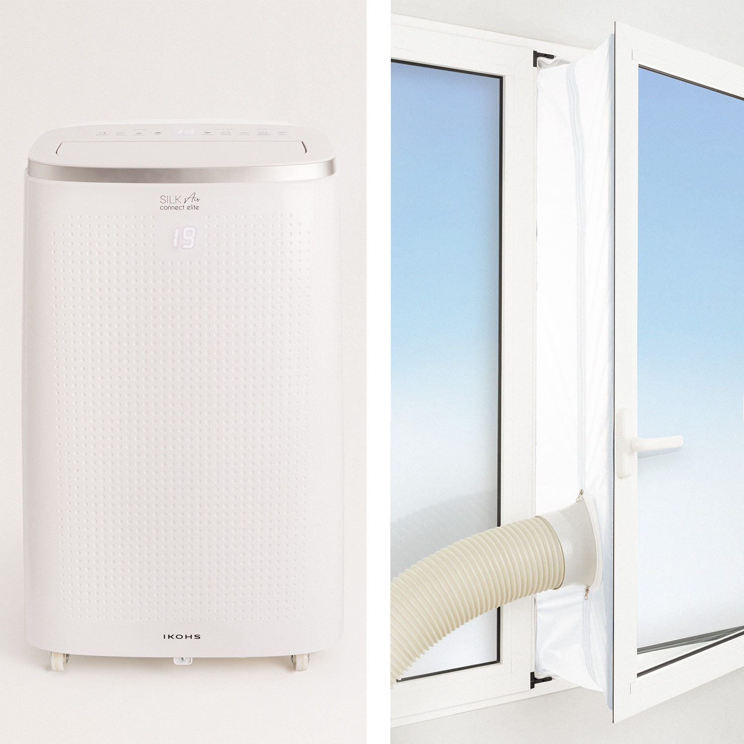 PACK - SILKAIR ELITE Portable Air Conditioner 4in1 WiFi + EXTRACTION AND INSULATION KIT for casement windows, imagen de galería 1