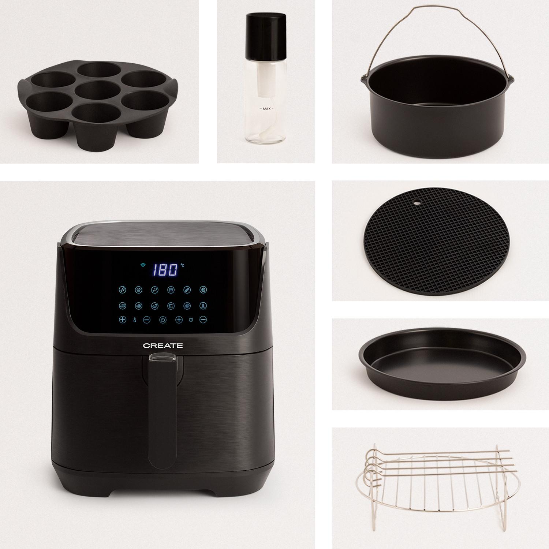 PACK - FRYER AIR SMART 5,5L Oil Free Air Fryer 5.5L + Accessories, imagen de galería 1