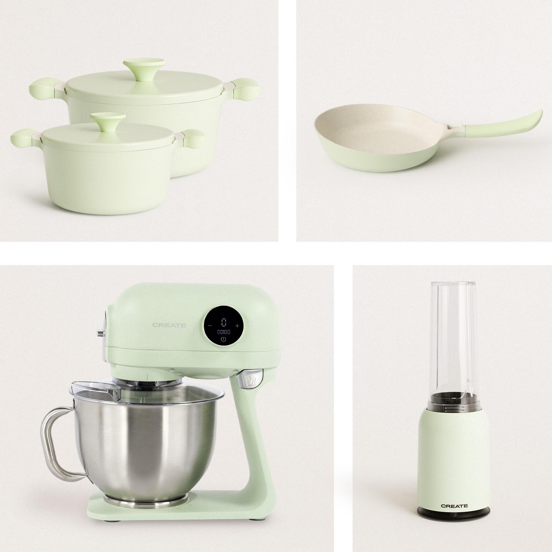 PACK GREEN - MOI Personal Mixer + NOA Skillet + 2xUMA Pots + DOWNMIX RETRO Mixer, imagen de galería 1