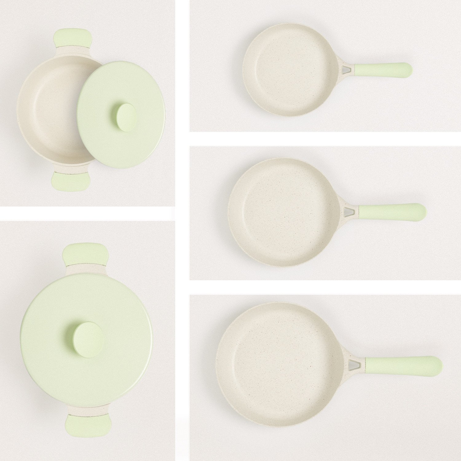 HOUSEHOLD PACK of 2 POTS AND 3 PANS, imagen de galería 1